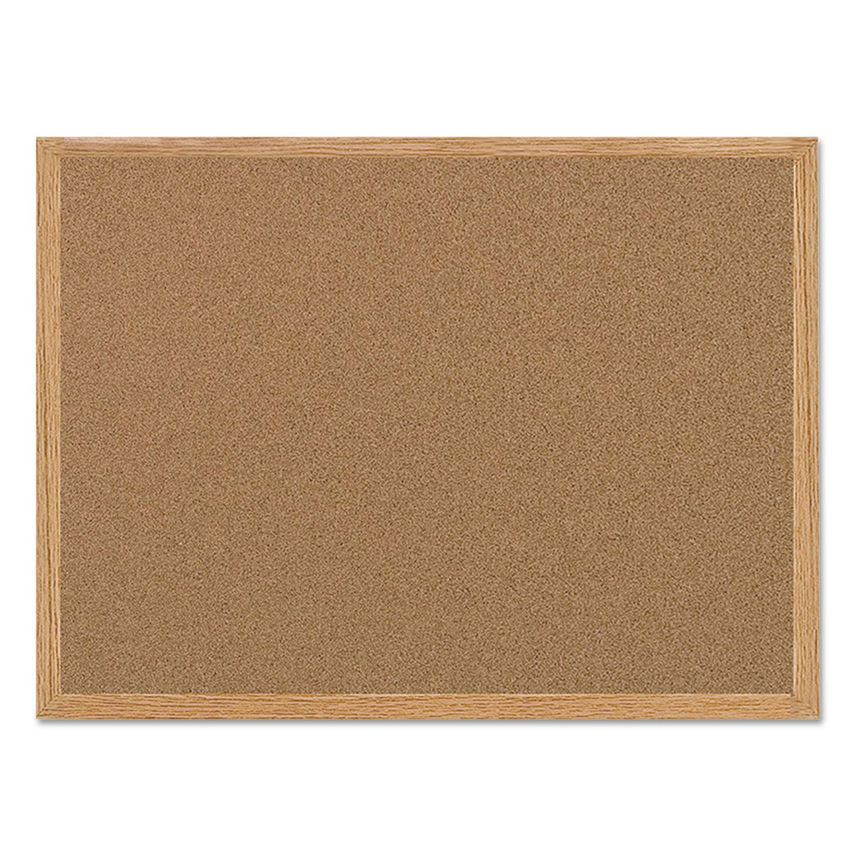 Value Cork Bulletin Board With Oak