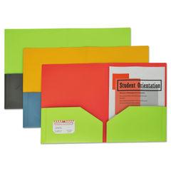 C-Line® Two-Tone Two-Pocket Super Heavyweight Poly Portfolio Thumbnail