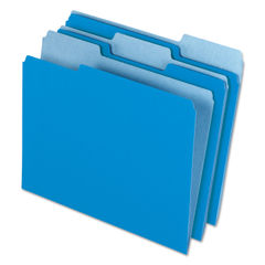 PFX421013BLU - Interior File Folders, 1/3 Cut Top Tab, Letter, Blue 100/Box