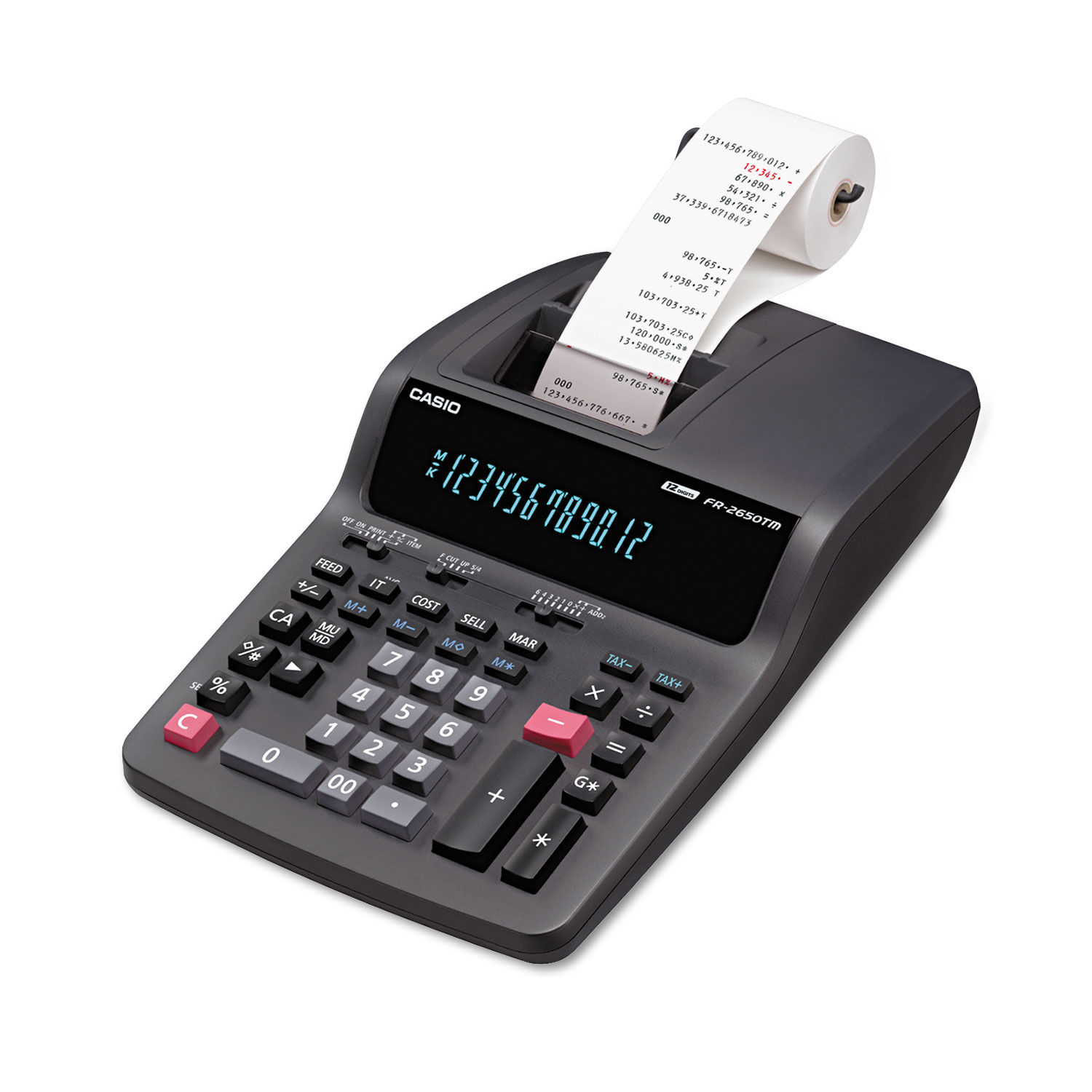 Casio FR-2650TM Calculator Ink Ribbons Black//Red Free Shipping 2