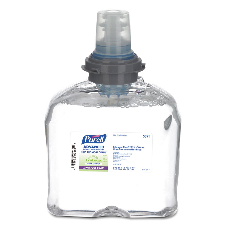 Advanced Hand Sanitizer Green Certified Tfx Foam Refill By Purell