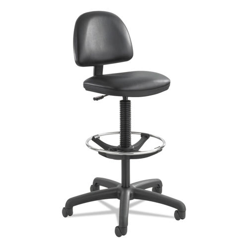 Stupendous Precision Extended Height Swivel Stool With Adjustable Footring 33 Seat Height Up To 250 Lbs Black Seat Back Black Base Ibusinesslaw Wood Chair Design Ideas Ibusinesslaworg
