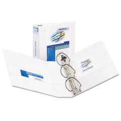 "AVE09701 - Durable View Binder w/Nonlocking EZD Rings, 11 x 8 1/2, 3"" Cap, White"