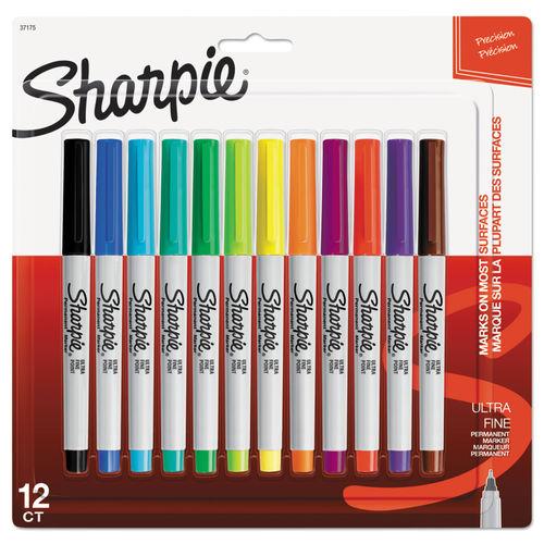 Ultra Fine Tip Permanent Marker Extra Fine Needle Tip Assorted Colors Dozen