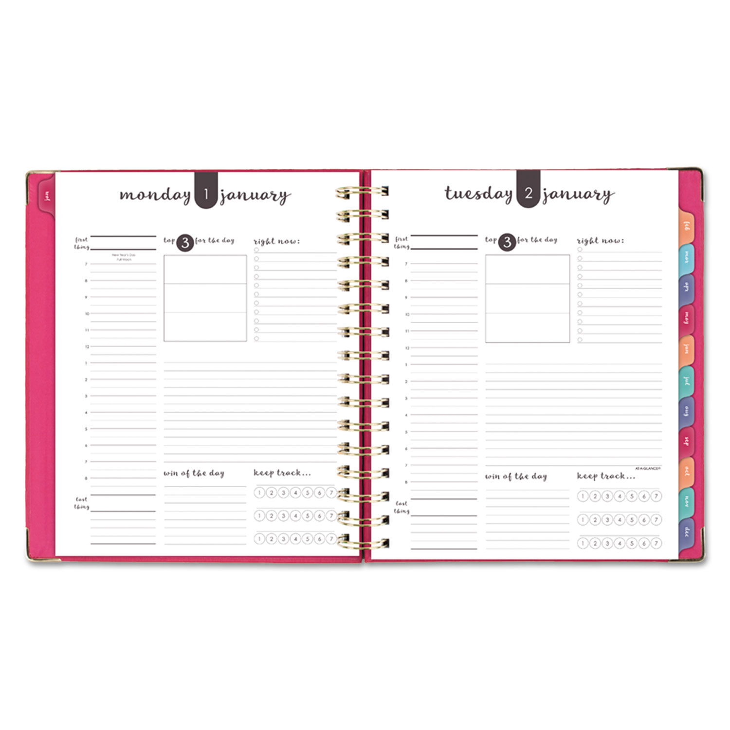 graphic regarding Hardcover Daily Planner titled Everyday Hardcover Planner, 8 3/4 x 6 7/8, Purple