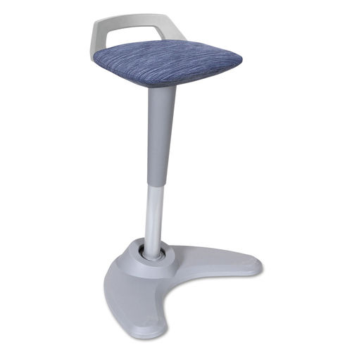 Pleasant Adaptivergo Sit To Stand Perch Stool Blue Seat Blue Back Silver Base Short Links Chair Design For Home Short Linksinfo