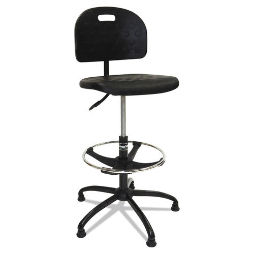 Tremendous Workbench Shop Chair 32 Seat Height Supports Up To 250 Lbs Black Seat Black Back Black Base Theyellowbook Wood Chair Design Ideas Theyellowbookinfo
