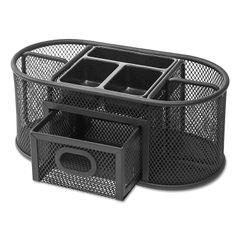 Universal® Metal Mesh Oval Desktop Organizer Thumbnail