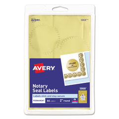 Avery® Printable Gold Foil Seals Thumbnail
