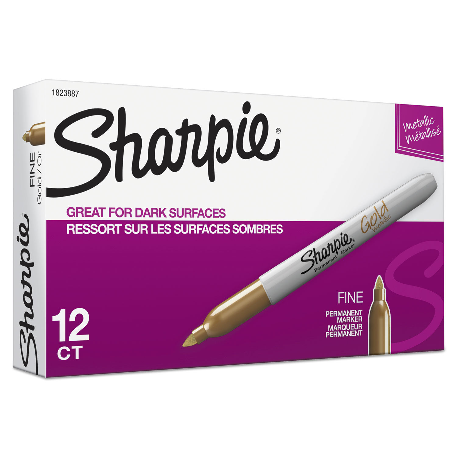 SHARPIE FINE POINT BULLET TIP PERMANENT MARKER PENS METALLIC GOLD SILVER BRONZE