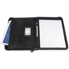 Universal® Leather Textured Zippered PadFolio with Tablet Pocket Thumbnail