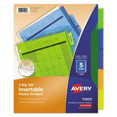 Avery® Insertable Big Tab™ Plastic Dividers Thumbnail