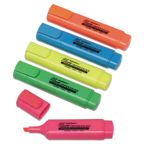 Highlighter Markers By Skilcraft Ontimesupplies Com