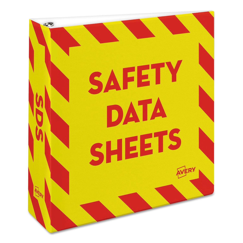 Heavy Duty Preprinted Safety Data Sheet Binder By Avery Ave18952