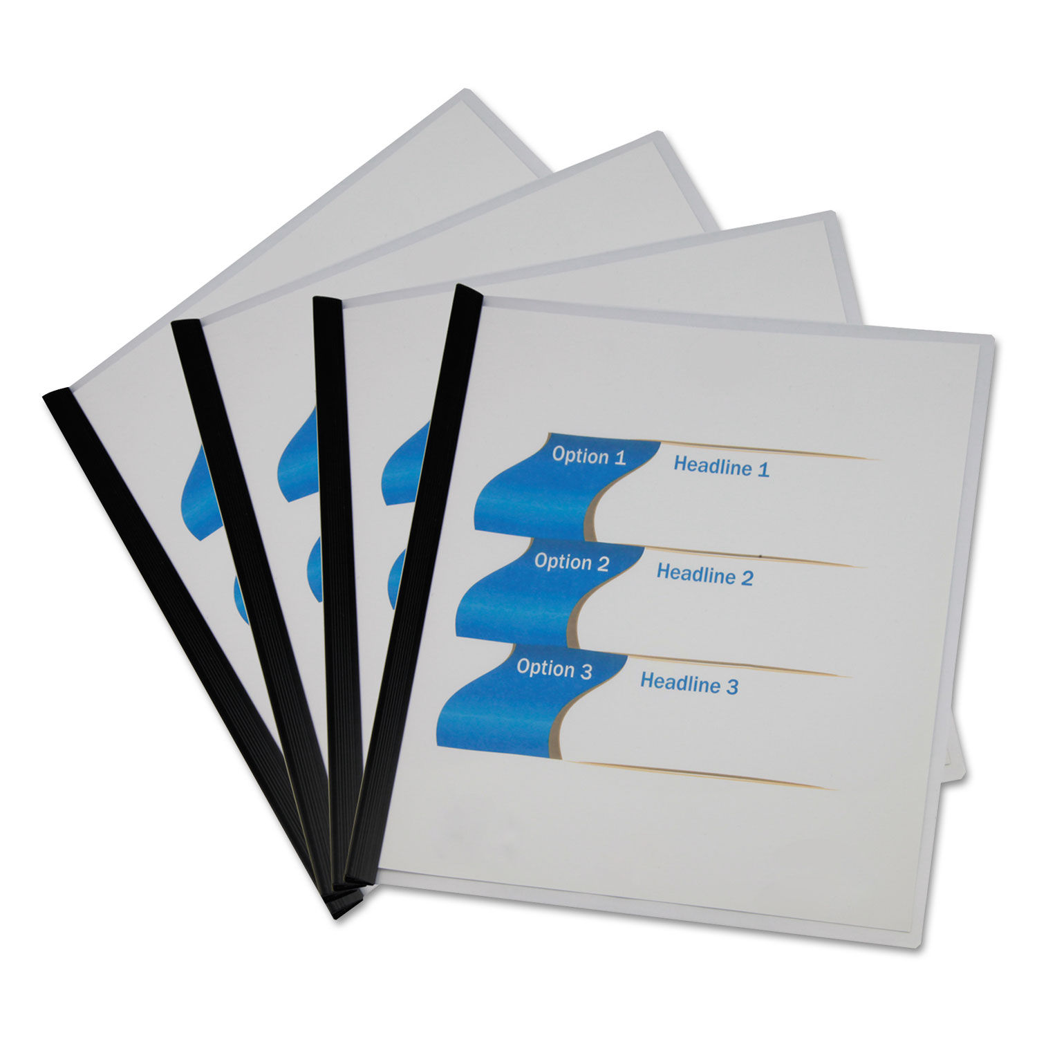 Clear View Report Cover With Slide-on Binder Bar By