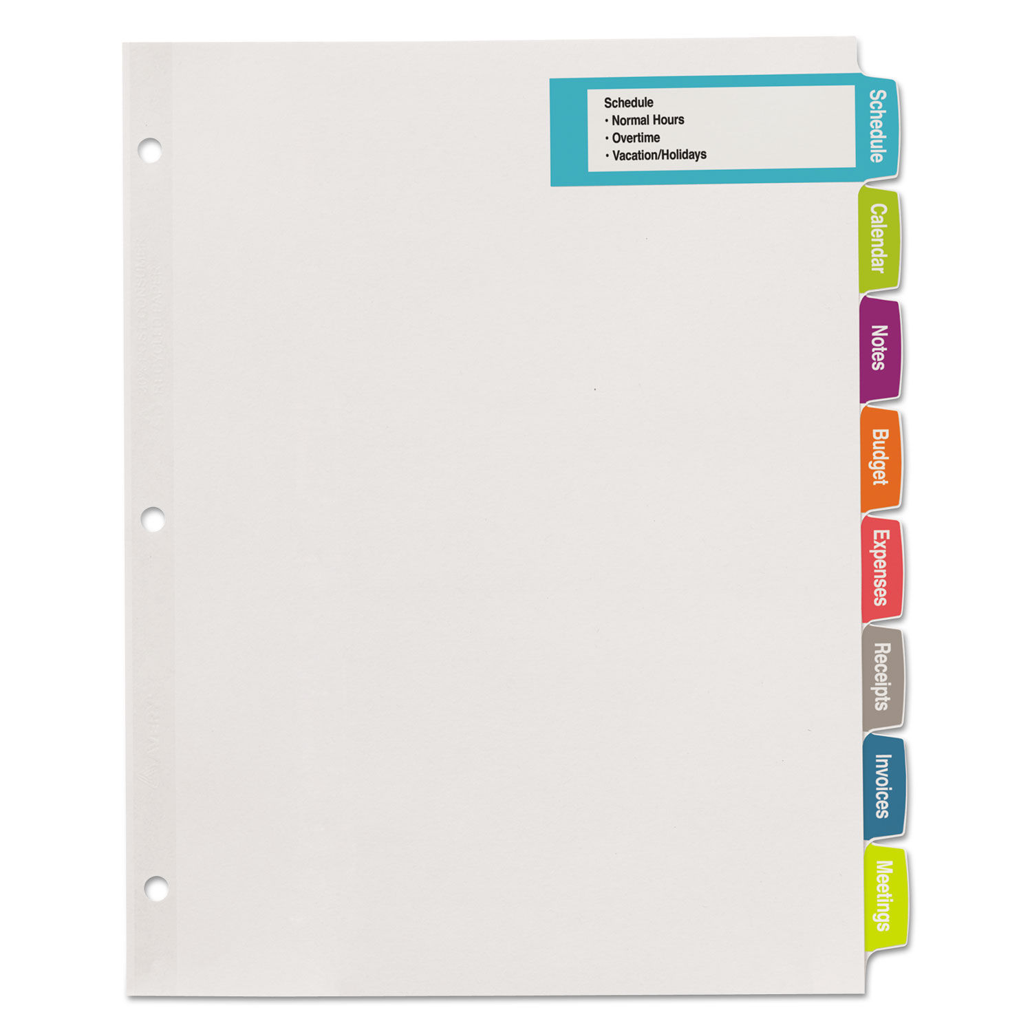 graphic regarding Printable Tab Dividers referred to as Huge Tab Printable Heavy White Label Tab Dividers, 8-Tab, Letter, 20 for every pack