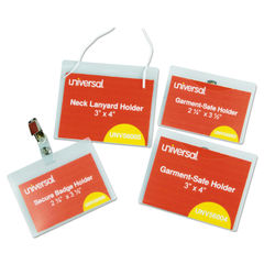 Universal® Clear Badge Holders With Inserts Thumbnail