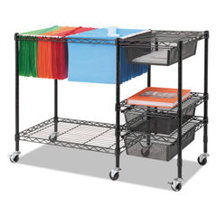 Vertiflex® Mobile File Cart with Drawers Thumbnail