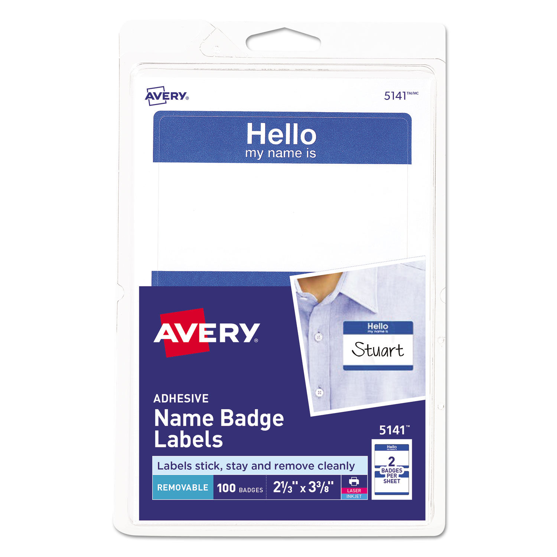 graphic regarding Printable Name Badges referred to as Printable Adhesive Status Badges, 2 1/3 x 3 3/8, Blue \