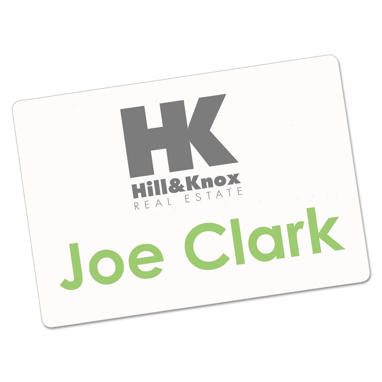 photograph regarding Printable Badges identified as Printable Adhesive Status Badges, 2 1/3 x 3 3/8, White, 100/Pack