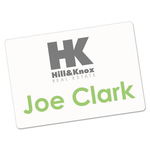 Printable Adhesive Name Badges, 2 1/3 x 3 3/8, White, 100/Pack