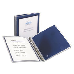 "AVE15766 - Flexi-View Binder with Round Rings, 3 Rings, 0.5"" Capacity, 11 x 8.5, Navy Blue"