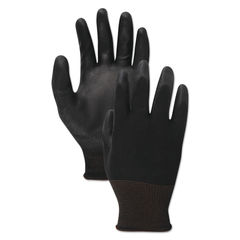 Boardwalk® Black PU Palm Coated Gloves Thumbnail