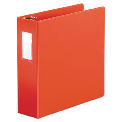 "UNV35413 - Economy Non-View Round Ring Binder, 3 Rings, 3"" Capacity, 11 x 8.5, Red"