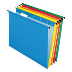 PFX615215ASST - Poly Laminate Hanging Folders, Letter, 1/5 Tab, Assorted, 20/Box