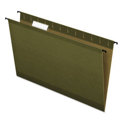 PFX615315 - Poly Laminate Hanging Folders, 1/5 Tab, Legal, Green, 20/Box