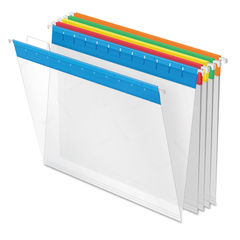 PFX55708 - Poly Hanging Folders, Letter Size, 1/5-Cut Tab, Assorted, 25/Box
