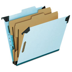 PFX59252 - Hanging Classification Folders with Dividers, Letter Size, 2 Dividers, 2/5-Cut Tab, Blue