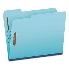 """GLW61542 - Earthwise by Heavy-Duty Pressboard Folders with Two Fasteners, 1/3-Cut Tabs, 2"""" Expansion, Letter Size, Light Blue, 25/Box"""