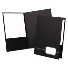 Oxford™ Monogram Executive Twin Pocket Folders Thumbnail