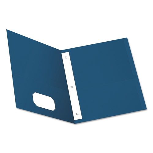 Twin Pocket Folders With 3 Fasteners Letter 1 2 Capacity Blue 25 Box