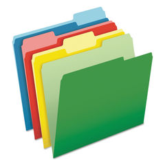 PFX48440 - CutLess File Folders, 1/3-Cut Tabs, Letter Size, Assorted, 100/Box