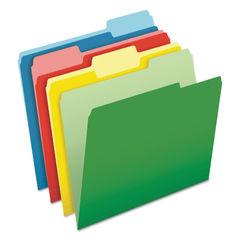 PFX48440 - CutLess File Folders, 1/3 Cut Top Tab, Letter, Assorted, 100/Box