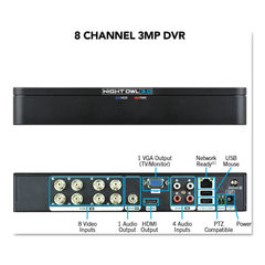 Night Owl 8 Channel Extreme HD 3MP DVR Thumbnail