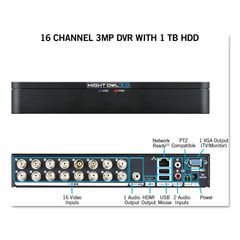 Night Owl 16 Channel Extreme HD 3MP DVR with 1 TB Hard Drive Thumbnail