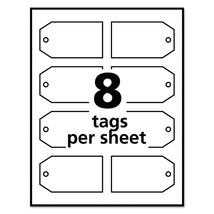 graphic regarding Printable Tags With Strings identified as Printable Rectangular Tags with Strings, 2 x 3 1/2, Matte White, 96/Pack