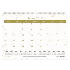 Blueline® Gold Collection Monthly Wall Calendar Thumbnail