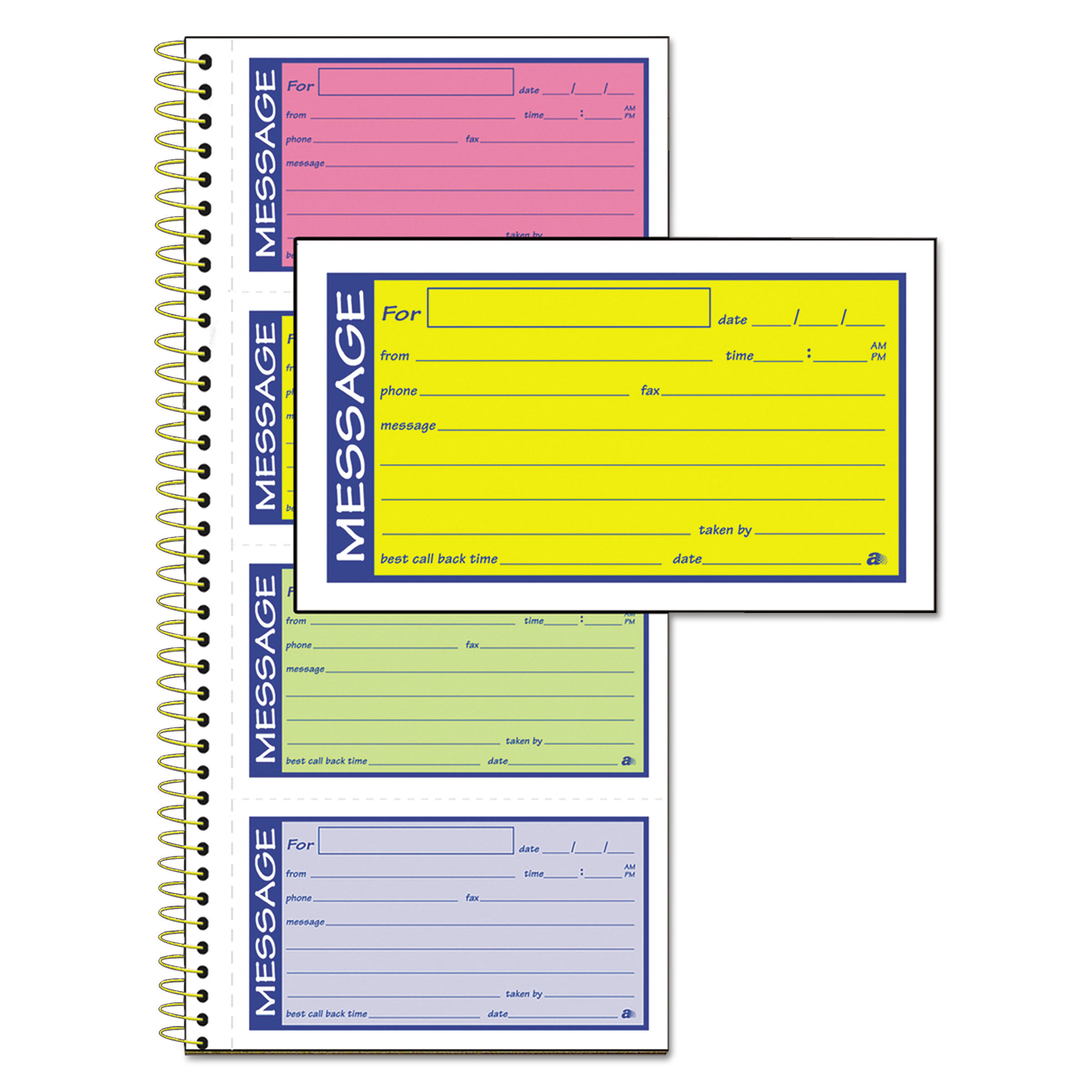 Office Depot Telephone Message Pad  200 Messages 50 Sheets per Book