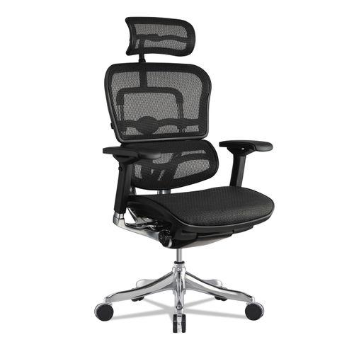 Ergohuman Elite High Back Chair Black Seat Base