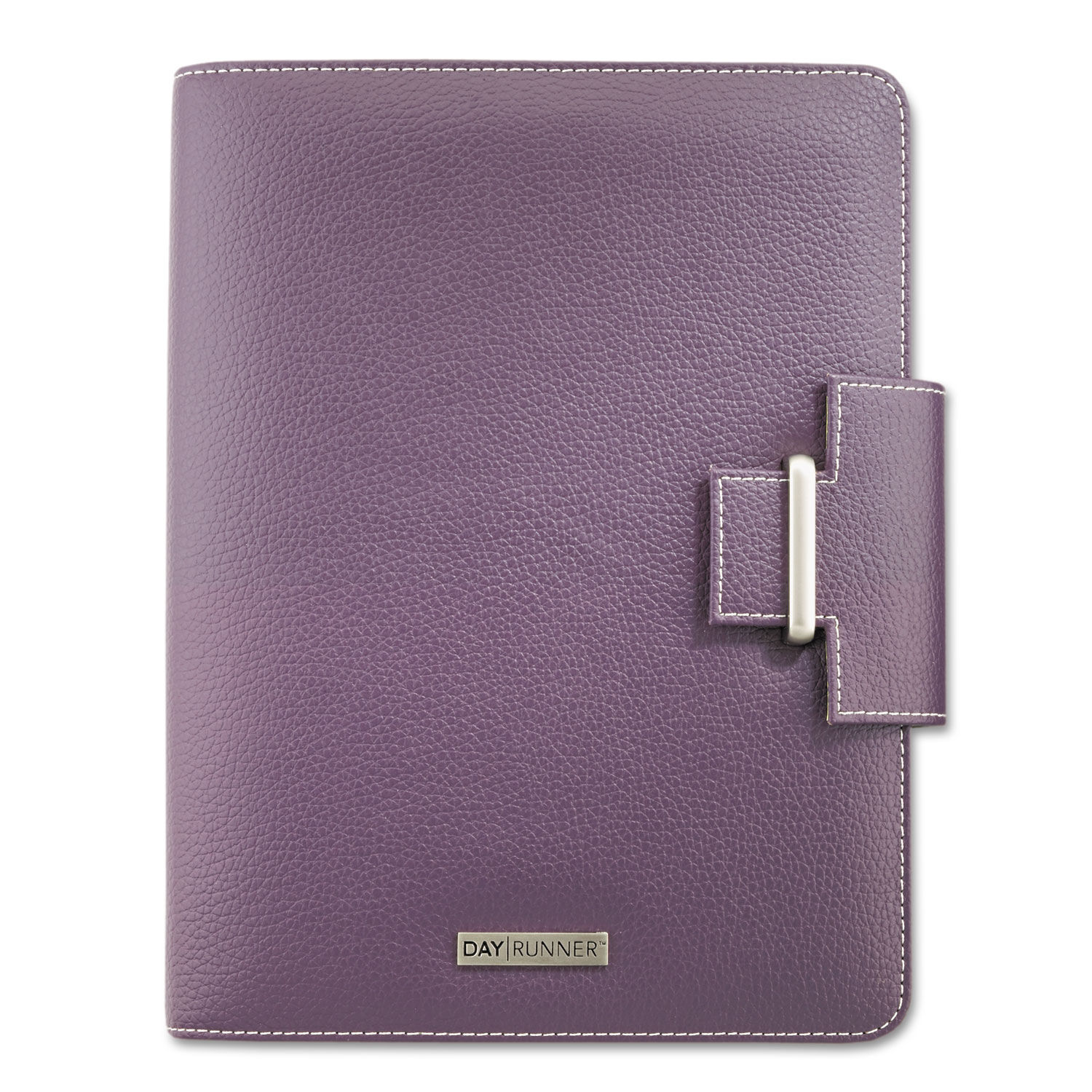 photo about Day Runner Binder identified as Terramo Refillable Planner, 8 1/2 x 5 1/2, Eggplant