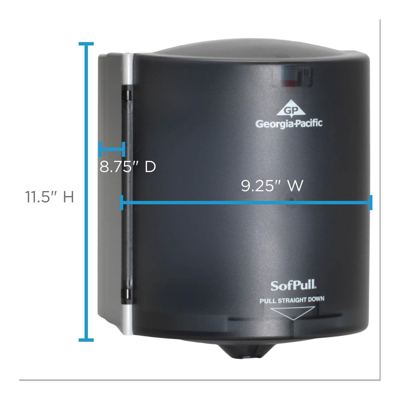SofPull Trial Kit Centerpull Paper Towel Dispenser Translucent Smoke 782781
