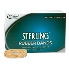 "ALL24195 - Sterling Rubber Bands, Size 19, 0.03"" Gauge, Crepe, 1 lb Box, 1,700/Box"