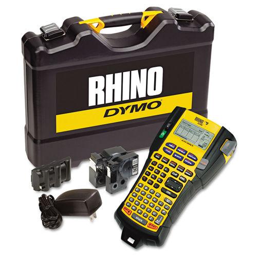 f3b2af04ad8a Rhino 5200 Industrial Label Maker Kit, 5 Lines, 4 9/10w x 9 1/5d x 2 1/2h