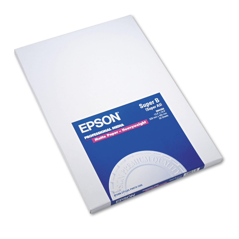 White 13 X 19 Ultra Premium Matte Presentation Paper 50//pack