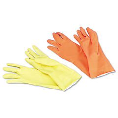 Boardwalk® Flock-Lined Latex Cleaning Gloves Thumbnail