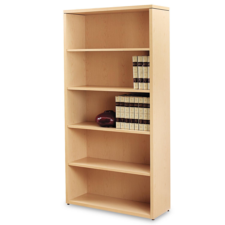 10500 Series Laminate Bookcase Five Shelf 36w X 13 1 8d X 71h Natural Maple